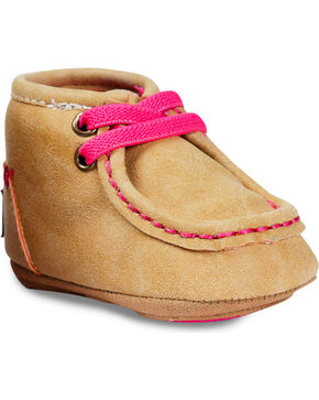 Blazin Roxx Infant Girls' Reagan Baby Bucker Booties , Tan, hi-res