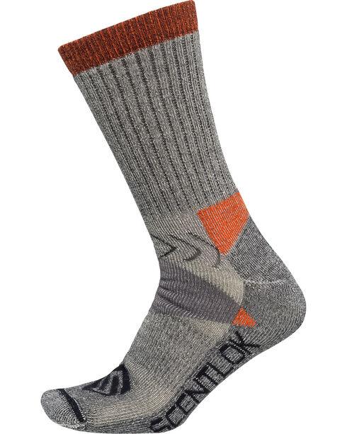 Scentlok Technologies Men's Grey Hiker Crew Socks , Grey, hi-res