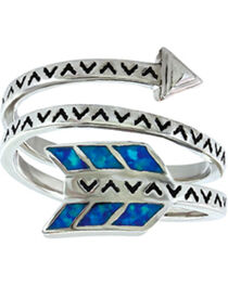 Montana Silversmiths Women's Sky Fletched Arrow Ring, , hi-res
