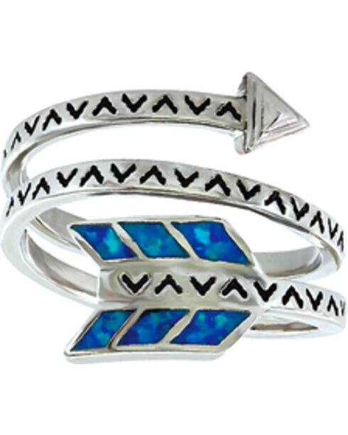 Montana Silversmiths Women's Sky Fletched Arrow Ring, Silver, hi-res