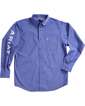 Ariat Men's Barado Print Pro Series Classic Logo Shirt, Blue, hi-res