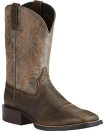 Ariat Men's Sport Wide Square Toe Western Boots, , hi-res