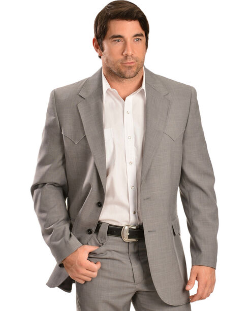 Circle S Men's Steel Grey Lubbock Sport Coat, Grey, hi-res
