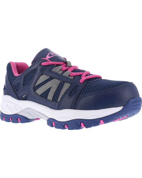 Knapp Women's Athletic Slip-Resistant Shoes - Steel Toe , Navy, hi-res