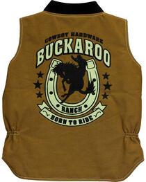 Cowboy Hardware Boys' Buckaroo Canvas Vest, , hi-res