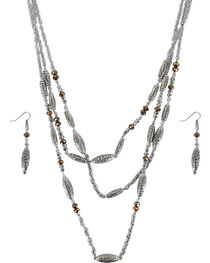 Shyanne® Women's Engraved Beaded Jewelry Set, , hi-res