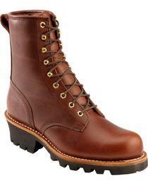 Chippewa Men's Steel Toe Logger Work Boots, , hi-res