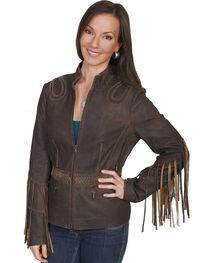 Scully Women's Fringe Leather Jacket, , hi-res