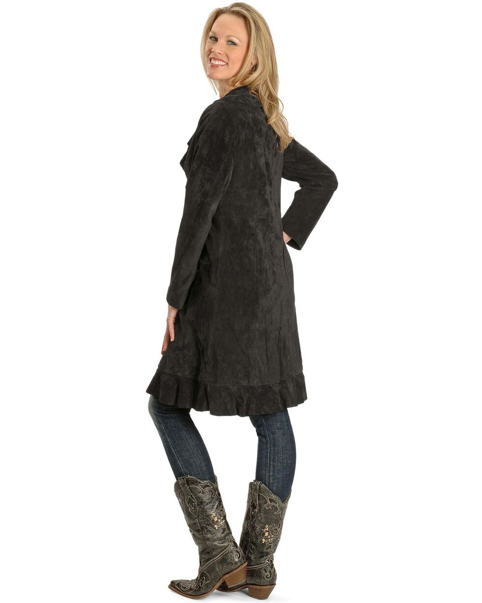 Scully Women's Ruffle Coat, Black, hi-res