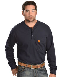 Wrangler Men's Flame Resistant Long Sleeve Henley, , hi-res