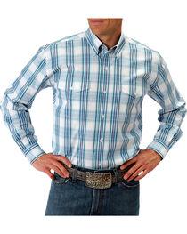 Roper Men's Turquoise Button Down Long Sleeve Shirt, , hi-res