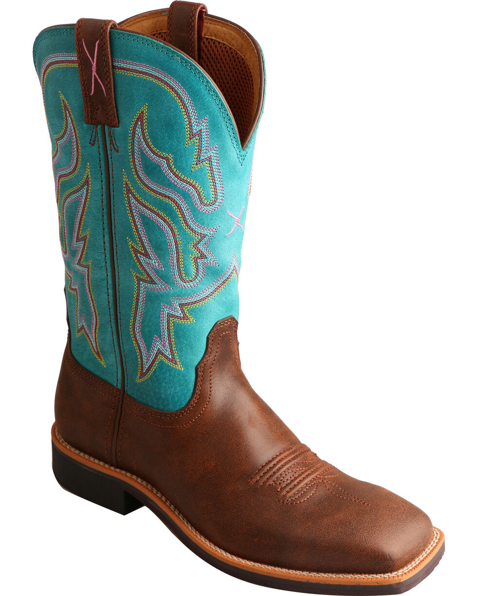 Twisted X Women's Solid Western Boots, Brown, hi-res