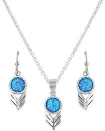 Montana Silversmiths Women's Silver Perfect Sky Flower Jewelry Set , , hi-res