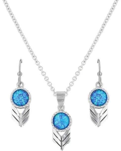 Montana Silversmiths Women's Silver Perfect Sky Flower Jewelry Set , Silver, hi-res