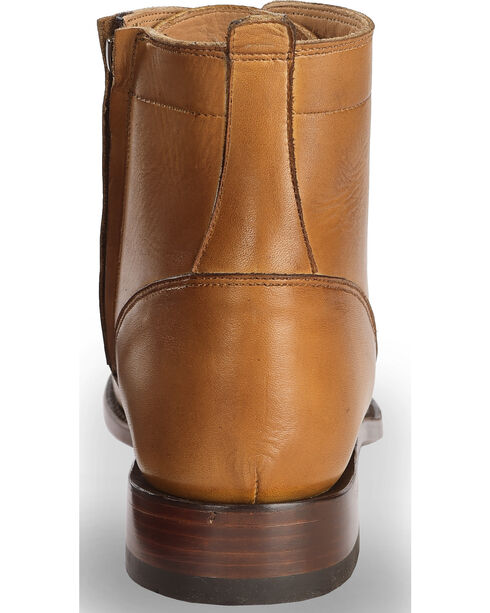 El Dorado Men's Tan Leather Urban Lacer Boots - Round Toe, Tan, hi-res