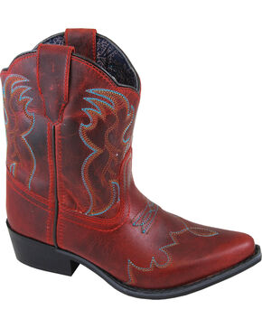 Smoky Mountain Youth Girls' Red Juniper Short Boots - Pointed Toe , Red, hi-res