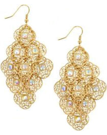 Shyanne® Women's Gold Mandala Charm Earrings Gift with Purchase, , hi-res
