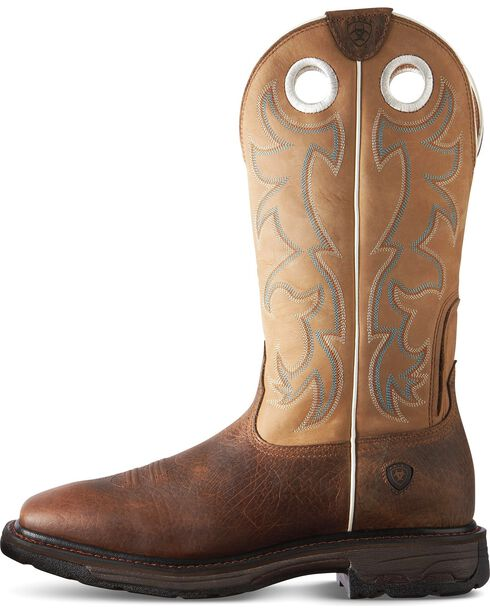 Ariat Men's Steel Toe Workhog Boots, Earth, hi-res