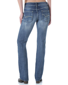 Wrangler Women's Premium Patch Mae Straight Leg Jeans, Med Blue, hi-res