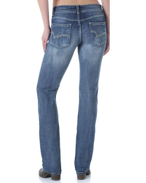 Wrangler Women's Premium Patch Mae Straight Leg Jeans, Med Blue, hi-res