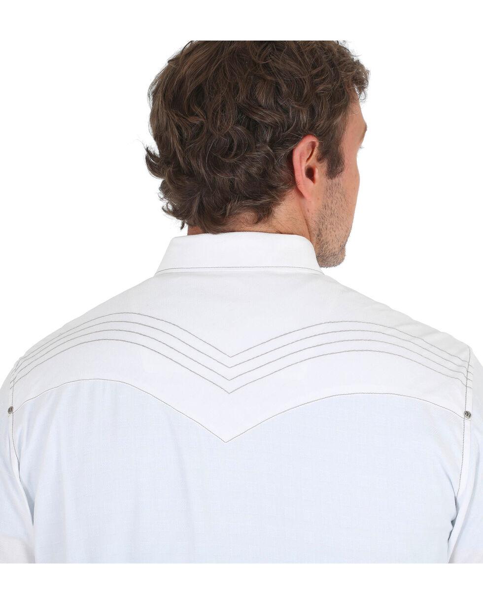 Wrangler Rock 47 Men's White Solid Western Shirt , White, hi-res