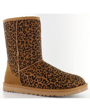 UGG® Women's Classic Short Rosette Casual Boots, Chestnut, hi-res
