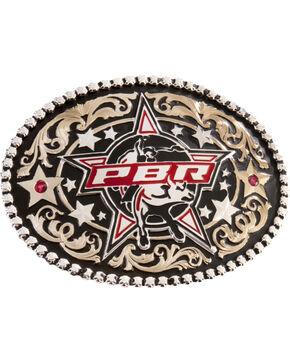 Montana Silversmiths PBR Stars Belt Buckle, Silver, hi-res