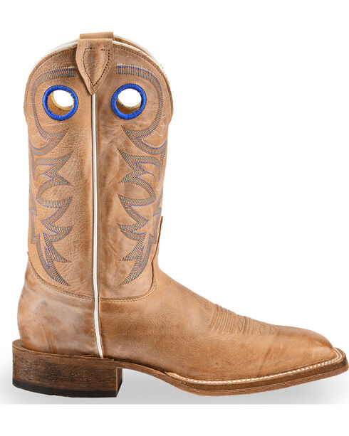 Justin Bent Rail Men's Chievo Square Toe Western Boots, Beige, hi-res