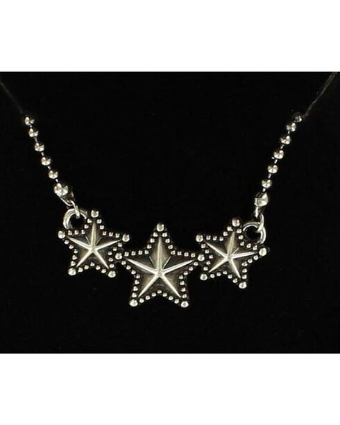 Lightning Ridge Triple Star Necklace, Silver, hi-res