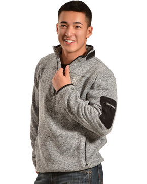 Browning Men's Laredo Grey and Black Sweater Pullover, Black, hi-res