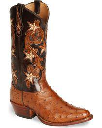 Tony Lama Men's Cowboy Classic Ostrich Western Boots, , hi-res