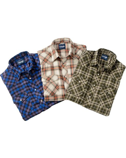Wrangler Men's Assorted Flannel Shirt, , hi-res