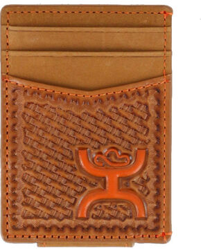 HOOey Men's Leather Money Clip Wallet, Tan, hi-res