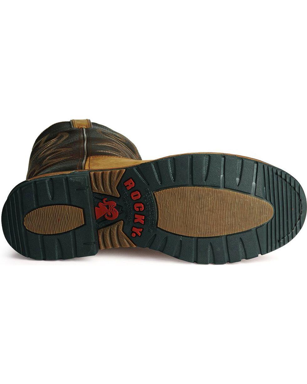 "Rocky Men's Branson Roper 11"" Western Boots, Brown, hi-res"
