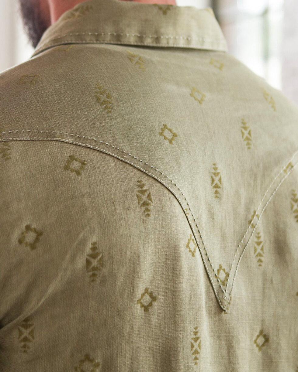 Ryan Michael Men's Southwest Sawtooth Long Sleeve Shirt, Brown, hi-res