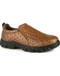 Roper Men's Tan Cotter Ostrich Print Casual Shoes , , hi-res