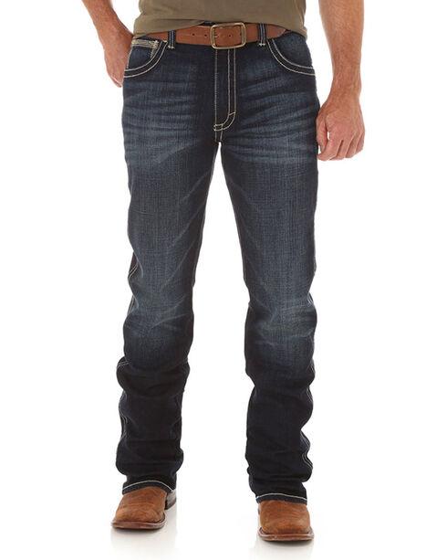 Wrangler 20X Men's 42 Vintage Low Rise Boot Cut Jeans, Indigo, hi-res