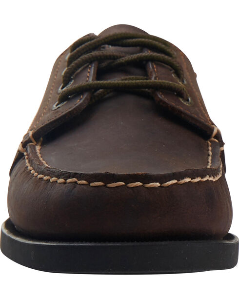 Eastland Women's Bomber Brown Falmouth Camp Mocs, Brown, hi-res