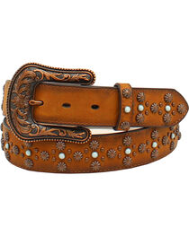 Ariat Women's Leather Studded Stone Western Belt, , hi-res
