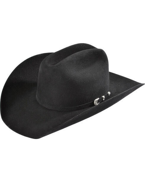 Justin 8X Fur Felt Mustang Cowboy Hat, Black, hi-res