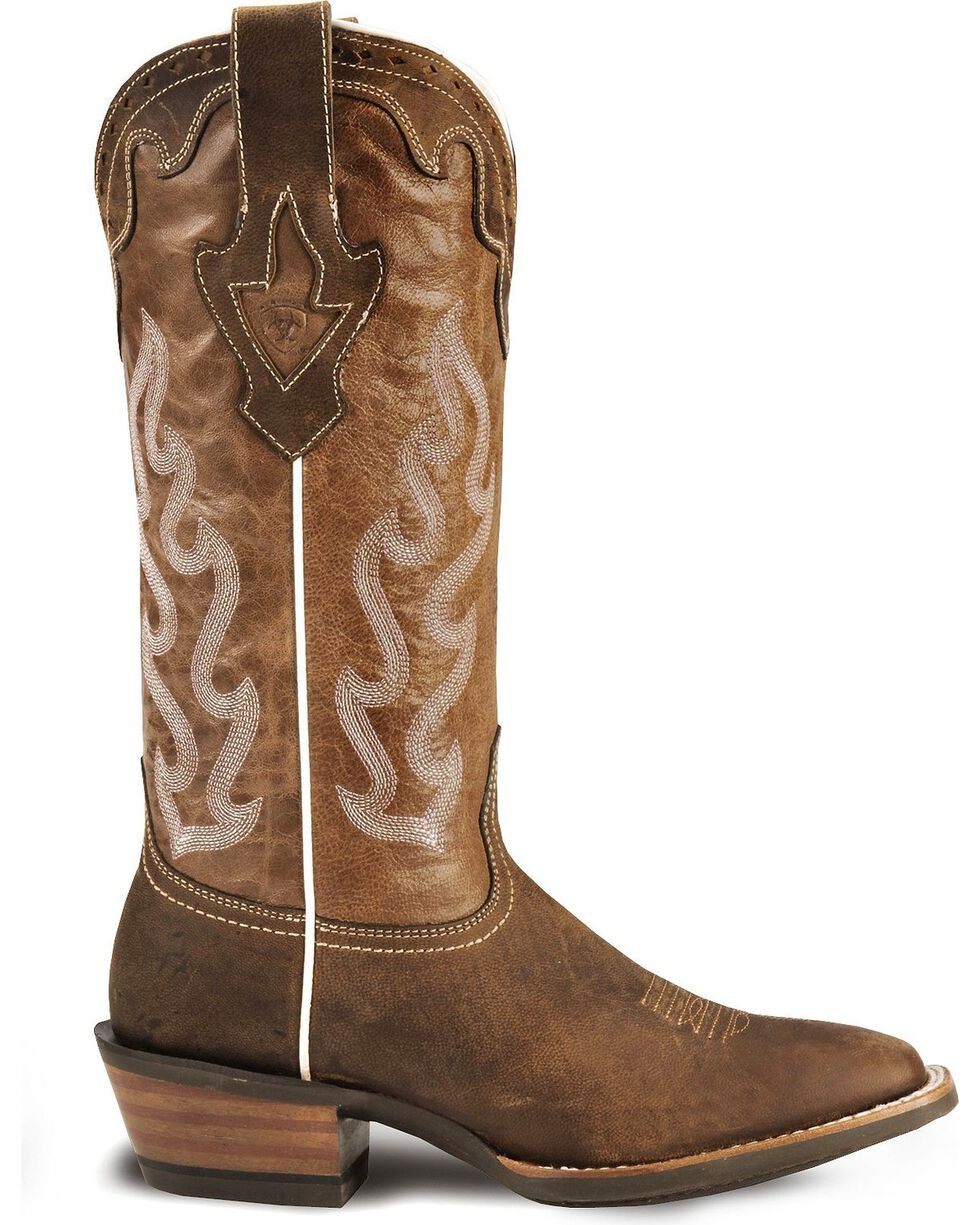 Ariat Women's Crossfire Caliente Western Boots, Brown, hi-res