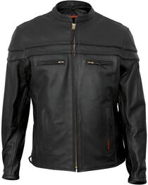 Interstate Leather Men's Rebel Motorcycle Jacket, , hi-res