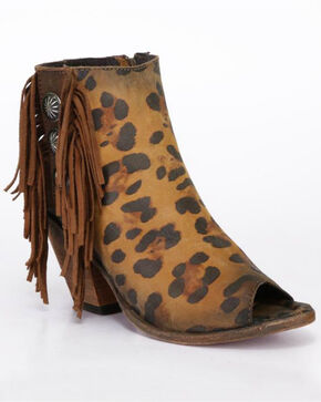Liberty Black Women's Leopard Chita Miel Booties , Cheetah, hi-res