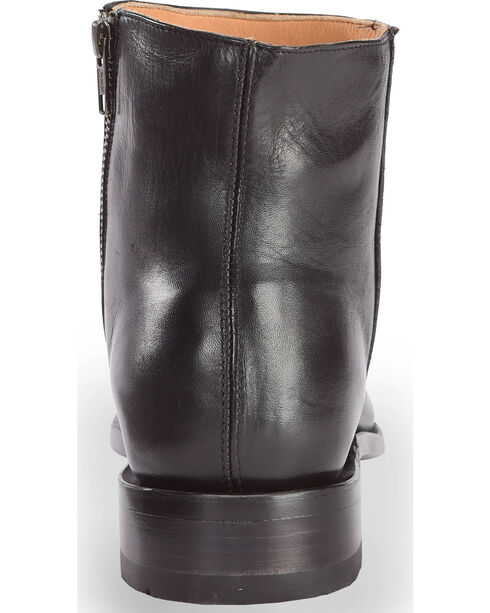 El Dorado Men's Smooth Leather Zipper Urban Roper Boots - Round Toe, Black, hi-res