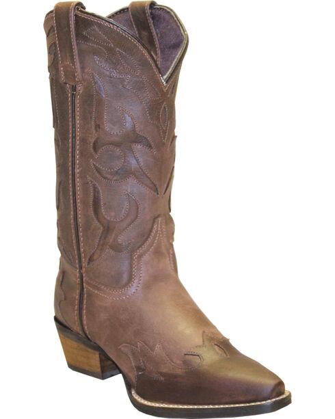 "Rawhide Women's 11"" Cutout Wingtip Fashion Boots, Brown, hi-res"