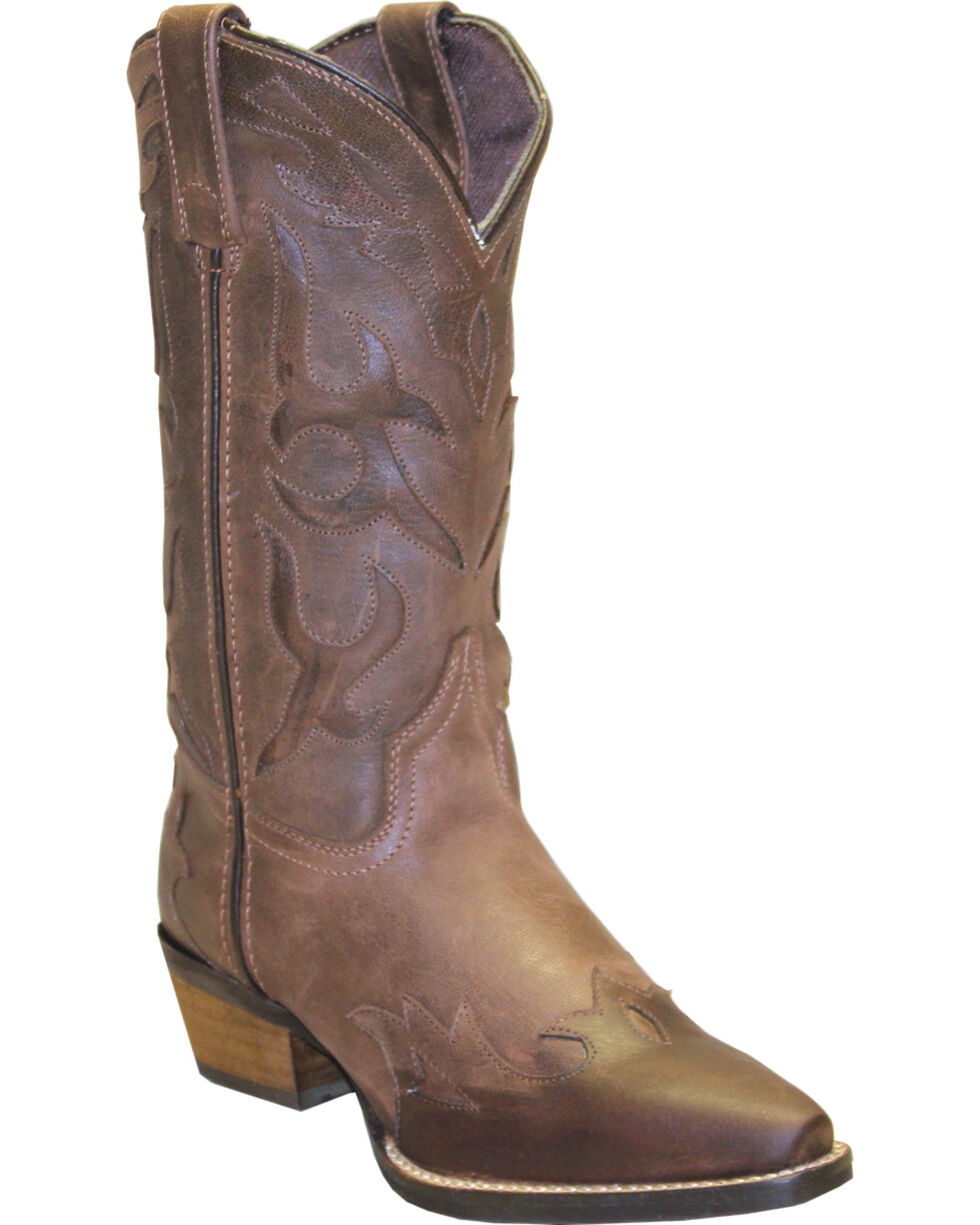 "Rawhide Women's 11"" Cutout Wingtip Fashion Boots, Brown, hi-res"