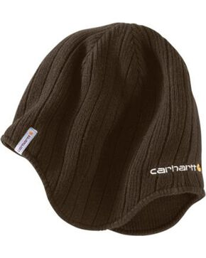 Carhartt Firesteel Earflap Hat, Dark Brown, hi-res