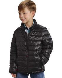 Roper Boy's Rangegear Crushable Black Jacket, , hi-res