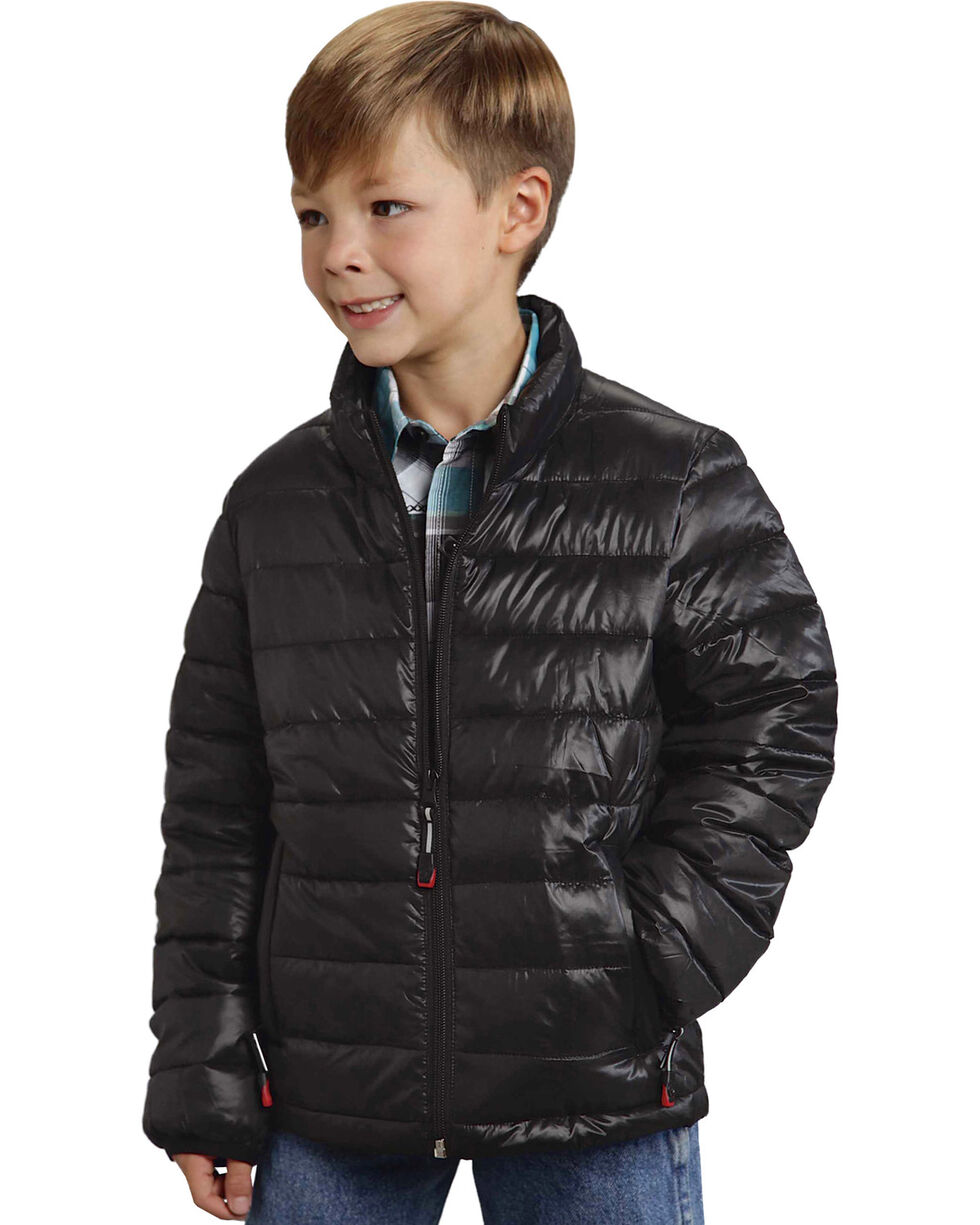 Roper Boy's Rangegear Crushable Black Jacket, Black, hi-res
