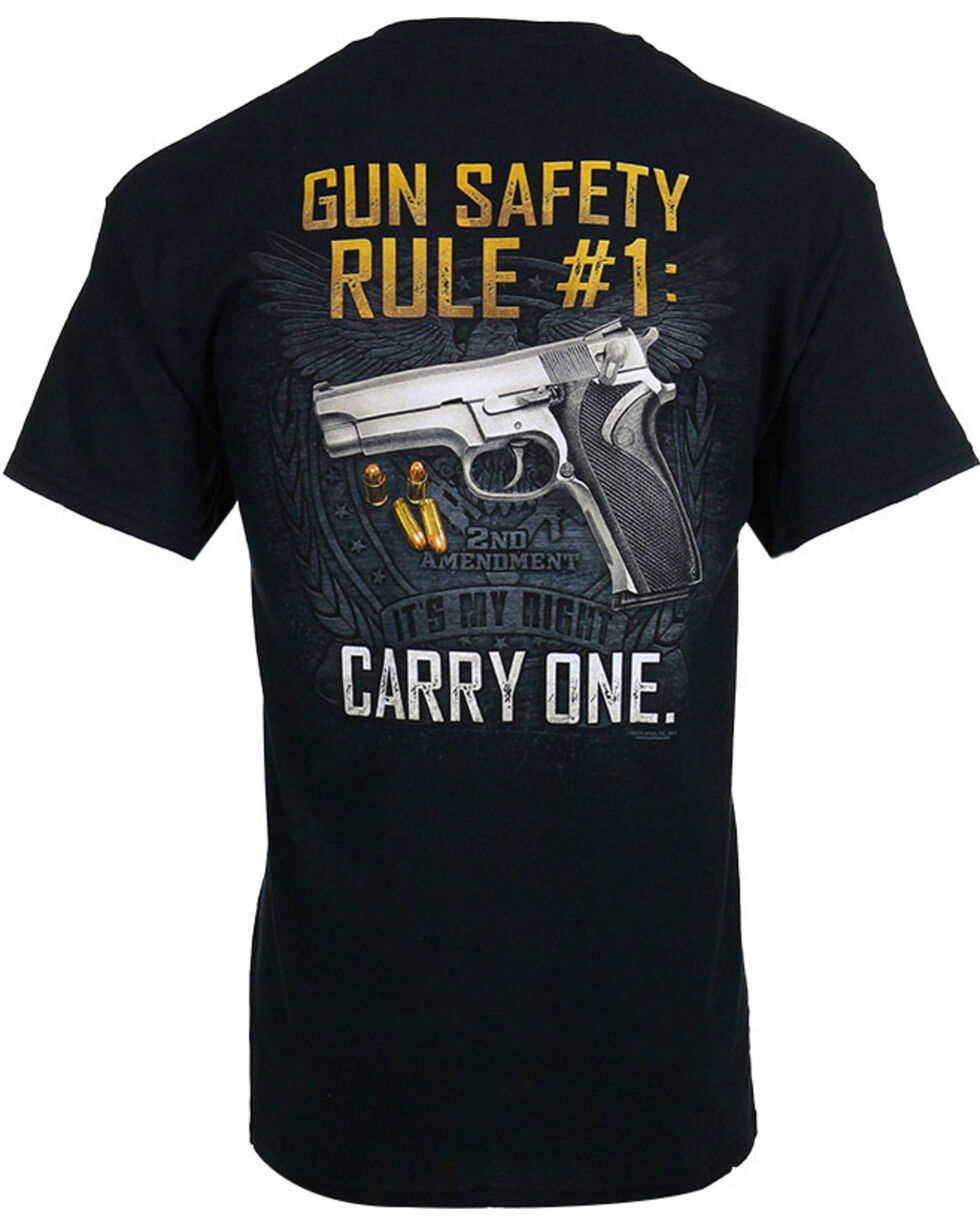 Buck Wear Men's Gun Safety Rule Tee, Black, hi-res